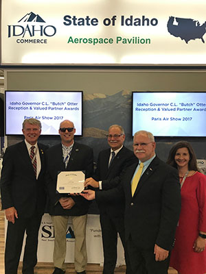 Idaho Governor Gives ASU Valued Partner Awards to HeliAir and LFE