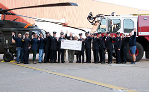 Sikorsky Presents Check to Make-A-Wish Foundation